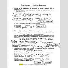 310 Calculations Involving A Limiting Reactant