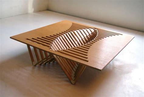 intriguing creative design  flexible wooden table