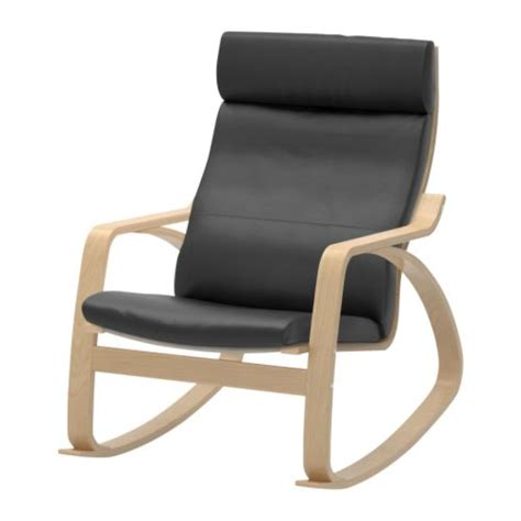 po 196 ng rocking chair glose black ikea