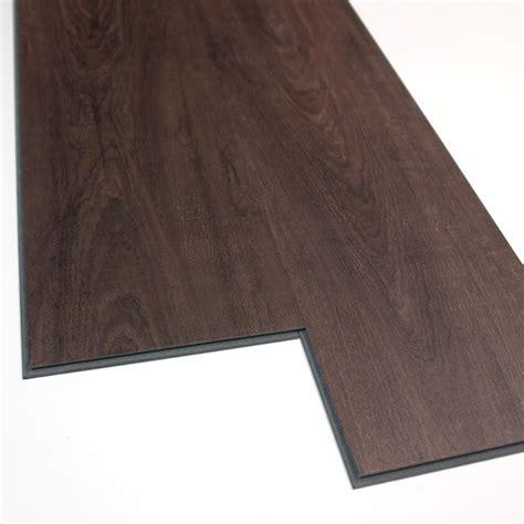 vinyl flooring at lowes versaclic 6 in x 48 in cappuccino oak floating vinyl plank lowe s canada