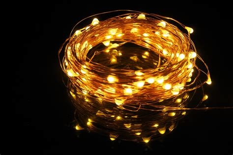 lighted wire led seed lights 10 m copper wire the light shop