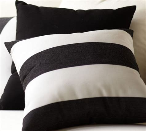 black and white stripe outdoor pillows home designs