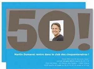 Faire Part Anniversaire 50 Ans : modele invitation anniversaire gratuit 50 ans document ~ Edinachiropracticcenter.com Idées de Décoration