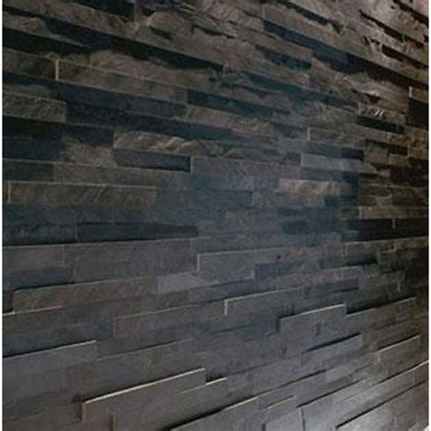 tiled walls splitface black slate mosaic tiles sle z tile 3d stone cladding wall ebay