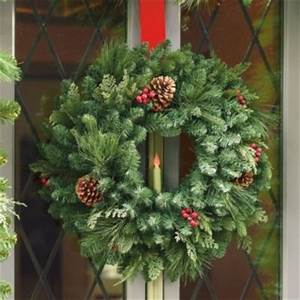 Classic Window Wreath with Taper Candle