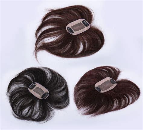 human hair replacement top piece wiglet clip inon