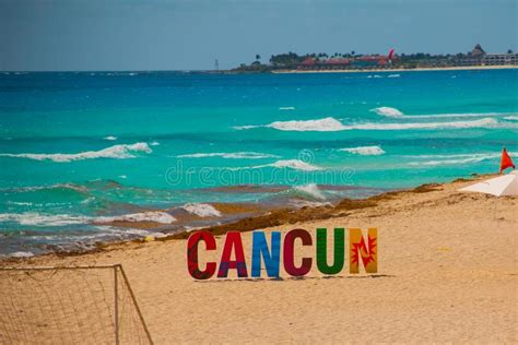 Cancun Beach Cleaning Editorial Stock Photo Image Of Sand