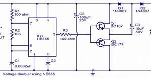 Wiring Schematic Diagram  Voltage Doubler Circuit Using Ne555