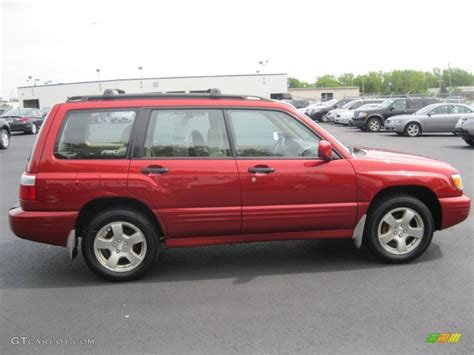 red subaru forester 2000 sedona red pearl 2001 subaru forester 2 5 s exterior photo
