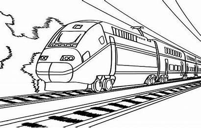 Train Coloring Electric Railroad