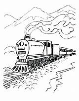 Polar Coloring Express Pages Train Mountains Printables sketch template