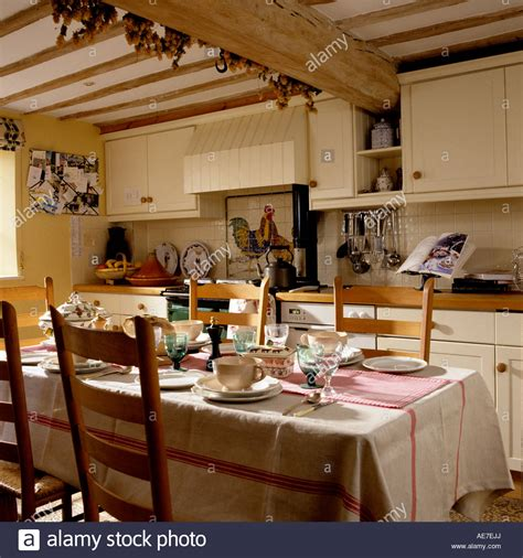 country kitchen   english cottage  wooden beams