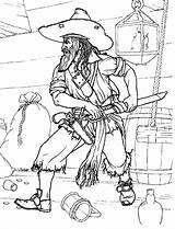 Pirate Coloring Pirates Colorkid sketch template
