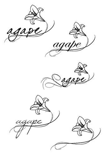 agape selection | Tattoos