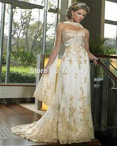 ivory and gold bridesmaid dresses wwwimgkidcom the With gold and ivory wedding dress