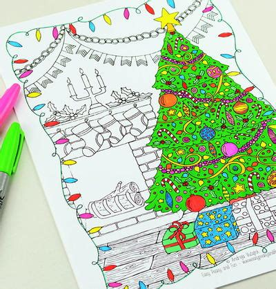 night before christmas adult coloring page favecrafts com
