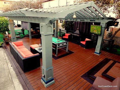 room pool table outdoor room original design pergola spa fireplace 3731