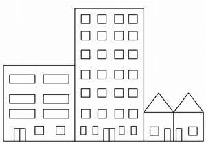 Dibujo De Edificios De La Ciudad Para Colorear Dibujos