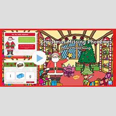 * New * Christmas Missing Phonemes  Phase 2 Middle Sounds