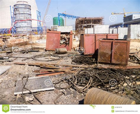 Messy Construction Site Stock Photo