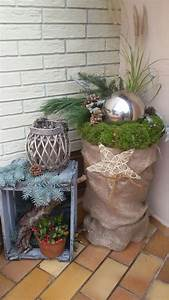 Advent Deko Für Draußen : pin von claude poos auf pflanzen deko weihnachtsdeko drau en deko hauseingang weihnachten und ~ Orissabook.com Haus und Dekorationen