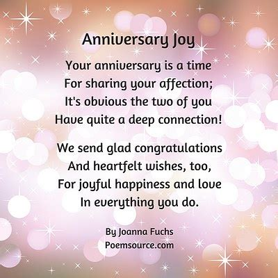 Ee  Anniversary Ee   Poems Syou Remember And C