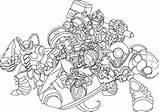 Skylanders Coloring Pages Imaginators Characters Cool sketch template