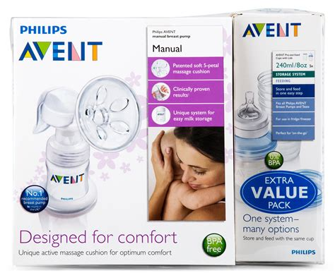 Avent Manual Breast Pump With 5 X Extra Cups Ebay
