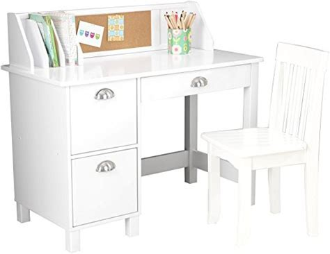 KidKraft Kids Study Desk with Chair White   Import It All