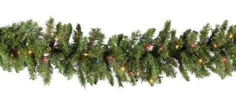 lighted christmas garland brighton fir prelit christmas
