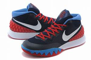 kyrie 1 shoes black and blue
