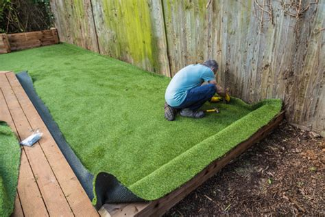 prepare  garden  artificial grass installation