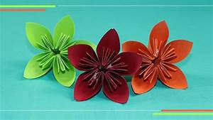 Origami Kusudam Flower: How to Make Paper Flowers, Easy