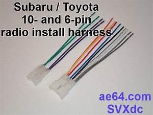 Radio Wiring Adapter  Harness  For Subaru And Toyota