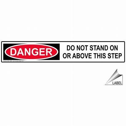 Label Step Danger Stand Nhe Ladder