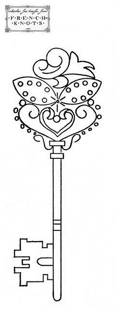 key   Embroidery patterns, Embroidery patterns free, Crewel embroidery
