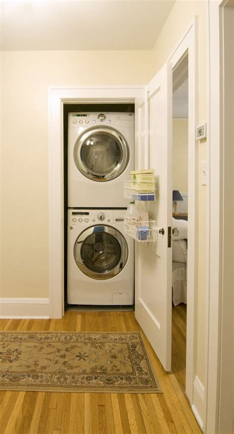 small laundry room stacked washer dryer laundry room