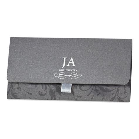 einladungskarte hochzeit nathalie  grau silber toenen