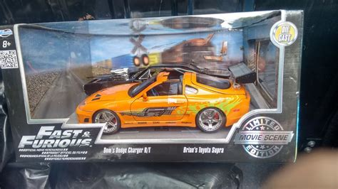 set toyota supra  dodge charger rt fast furious