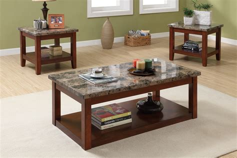 wood coffee table with granite top wooden mallet coffee