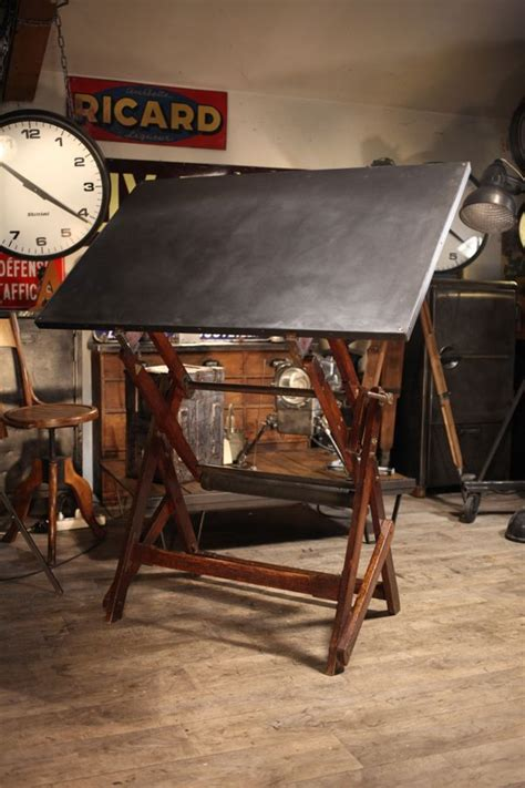 table  dessin ancienne en chene massif drafting tables
