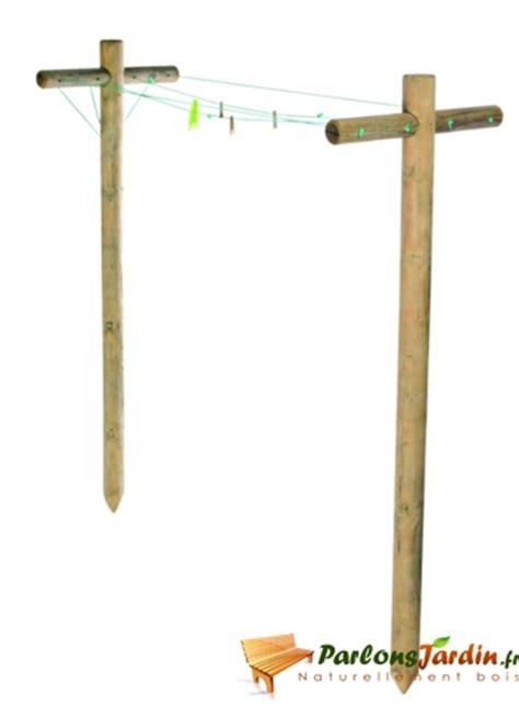 tendoir 224 linge en bois sacha l75cm x h240cm parlonsjardin fr