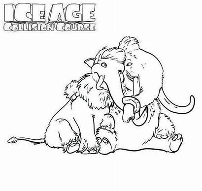 Coloring Age Ice Manny Ellie Movie Colouring