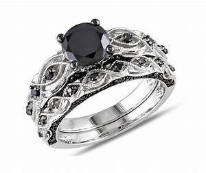 glamour and cheap black diamond wedding ring sets for With black and white diamond wedding ring sets