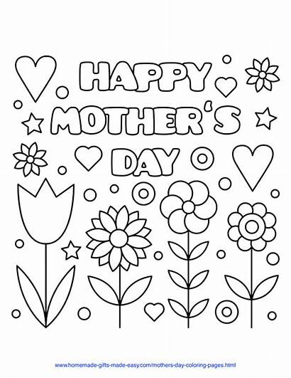 Coloring Mothers Mother Happy Printables Flowers Printable