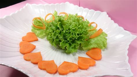 simple ideas  salad decoration  carrot art