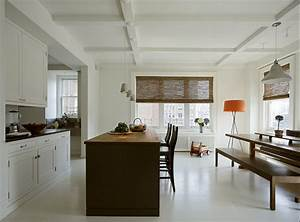 Contemporary low profile design ceiling in kitchen just