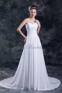 sweetheart wedding dresses allens bridal chiffon sweetheart neckline chapel a line wedding dress