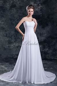 allens bridal chiffon sweetheart neckline chapel train a With a line wedding dresses sweetheart neckline
