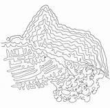 Machu Picchu Colorear Coloring Coloriage Machupicchu Pintar Dibujos Imagen Template sketch template